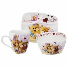 Orion Dětská jídelní sada Medvídek, 3 ks