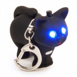 Přívěsek na klíče LED kočička