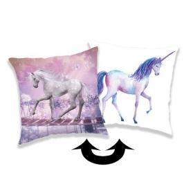 Jerry Fabrics Povlak na polštářek s flitry Unicorn 01, 40 x 40 cm