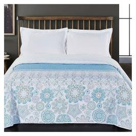 DecoKing Přehoz na postel Alhambra modrá, 220 x 240 cm