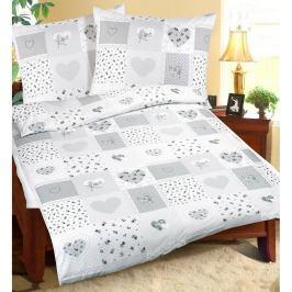 Bellatex Bavlněné povlečení Srdce patchwork, 140 x 220 cm, 70 x 90 cm