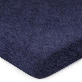 4Home Froté prostěradlo tmavě modrá, 90 x 200 cm
