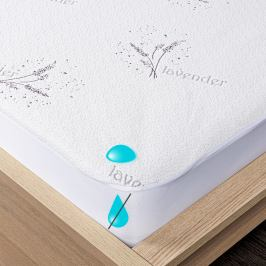 4Home Lavender Nepropustný chránič matrace s lemem, 160 x 200 cm