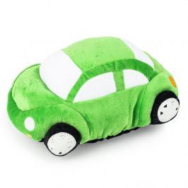 JAHU Tvarovaný polštářek Autíčko zelená, 33 x 15 cm