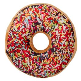 Jahu Tvarovaný polštářek Donut barevná posypka, 38 cm
