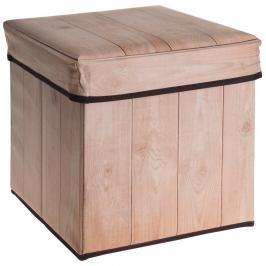 Úložný sedací box Wooden Birch, 30 x 30 x 30 cm