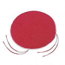 Bellatex Sedák Adéla kulatý hladký Puntík červená, 40 cm
