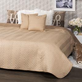 4Home Přehoz na postel Doubleface světle hnědá/hnědá, 220 x 240 cm, 2 ks 40 x 40 cm