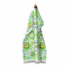 Domarex Kuchyňská utěrka Folk zelená, 45 x 70 cm