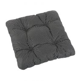 Bellatex Sedák Adéla prošívaný Puntík černá, 40 x 40 cm