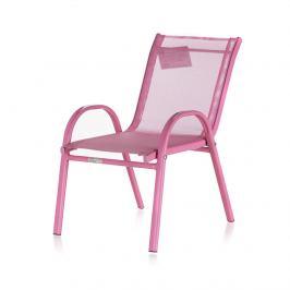 Happy Green Stohovatelná dětská zahradní židle NIKKI růžová