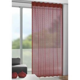 Albani Záclona s poutky Calli červená, 140 x 245 cm