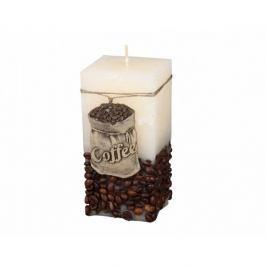 Dekorativní svíčka Coffee Bag béžová, 14 cm