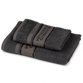 4Home Sada Bamboo Premium osuška a ručník tmavě šedá, 70 x 140 cm, 50 x 100 cm