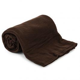 Jahu Fleecová deka UNI tmavě hnědá, 150 x 200 cm