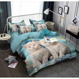 Jahu Povlečení Cats 3D, 140 x 200 cm, 70 x 90 cm