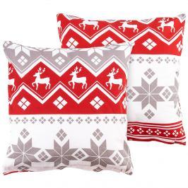 4Home Povlak na polštářek Red Nordic, 40 x 40 cm