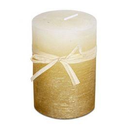 Svíčka z vosku zlato-ledový efekt, 6,8 x 9,5 cm