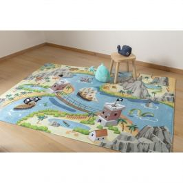 Vopi Dětský koberec Ultra Soft Tresure Island, 90 x 130 cm