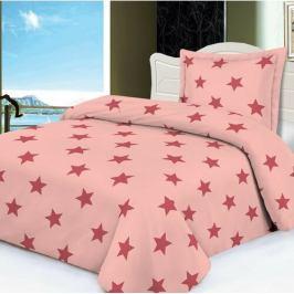 Jahu Povlečeni mikroplyš Stars růžová, 140 x 200 cm, 70 x 90 cm