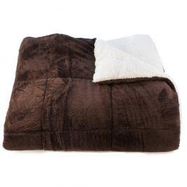 BO-MA Trading Beránková deka Erika čokoládová, 150 x 200 cm