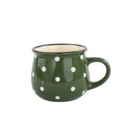 Keramický hrnek Dots 230 ml, zelená