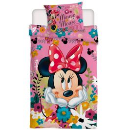 Jerry Fabrics Dětské povlečení Minnie Blossoms micro, 140 x 200 cm, 70 x 90 cm