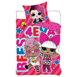 Dětské bavlněné povlečení LOL Surprise Best 4Ever, 140 x 200 cm, 70 x 90 cm