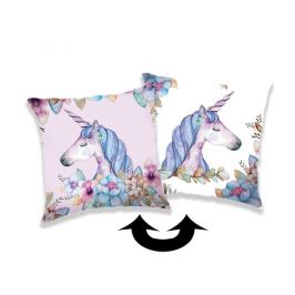 Jerry Fabrics Povlak na polštářek s flitry Unicorn 04, 40 x 40 cm