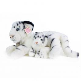 Rappa Plyšový bílý tygr s mládětem, 38 cm