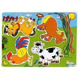 Rappa Provlékání dřevěné Zvířátka, 30 x 22 cm
