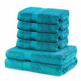 DecoKing Sada ručníků a osušek Marina tyrkysová, 4 ks 50 x 100 cm, 2 ks 70 x 140 cm