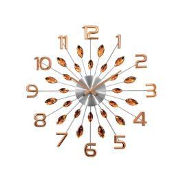 Lavvu LCT1192 Nástěnné hodiny Crystal Sun 49 cm, růžová