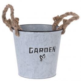 Zinkový obal na květináč Garden plant, 18 cm