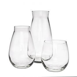 Altom Sada dvou skleněných váz a svícnu Avangarda, 3 ks