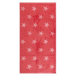 JAHU Ručník Stars růžová, 50 x 100 cm