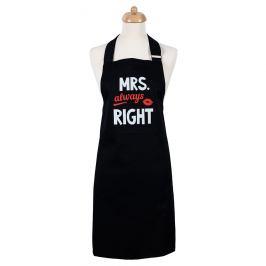 Šik v kuchyni Dámská zástěra Mrs. Always right, 22,5 x 75 cm