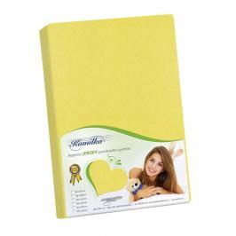 Bellatex Jersey prostěradlo Kamilka žlutá, 180 x 200 cm