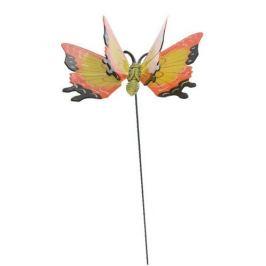 Dekorace Motýlek oranžová, 15 cm