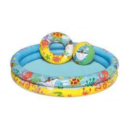 Nafukovací SET - bazén 112cm, plavací kruh 51cm, míč 41x15cm