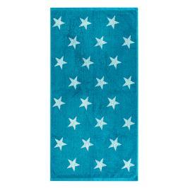 JAHU Ručník Stars tyrkysová, 50 x 100 cm