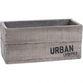 Cementový obal na květináč Urban lifestyle, 23 x 11 x 10,5 cm