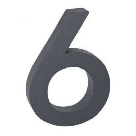 """Hliníkové číslo 6 v """"3D"""" provedení se strukturovaným povrchem RICHTER RN.100LV.6.AL.AM.3D"""