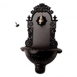Hliníkové umyvadlo černá mat, 38 x 61 x 19 cm