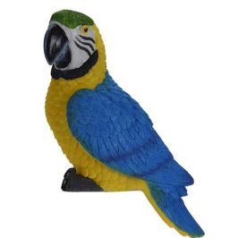 Dekorační papoušek Ara ararauna, 7 x 10 x 18 cm