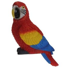 Dekorační papoušek Ara arakanga, 7 x 10 x 18 cm