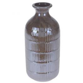 Váza Loarre hnědá, 10,5 x 22,5 cm