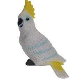 Dekorační papoušek Kakadu, 7 x 10 x 18 cm