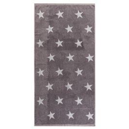 JAHU Osuška Stars šedá, 70 x 140 cm