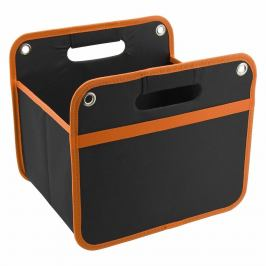 Stylový, skládací organizér do kufru,32x29cm vyztužené stěny černo-oranžový 32x29cm
